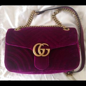 26cm Gucci Marmont Velvet Bag Brand New